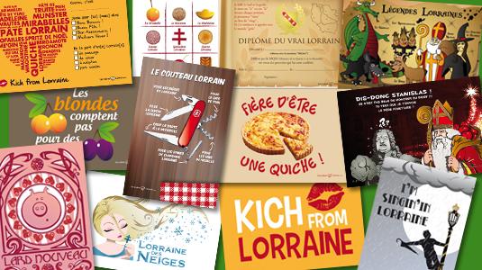 12 cartes postal boutique LAC